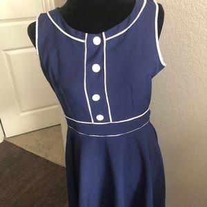 Vintage Preppy 1950s Sailor Style Dress